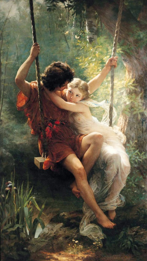 Springtime by Pierre-Auguste Cot.  Fantasy feel here.