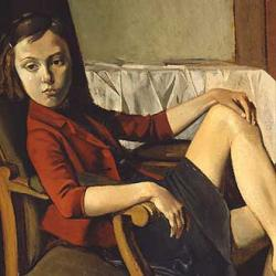 Therese by Balthus.  Got the pulp/Noir feel here.