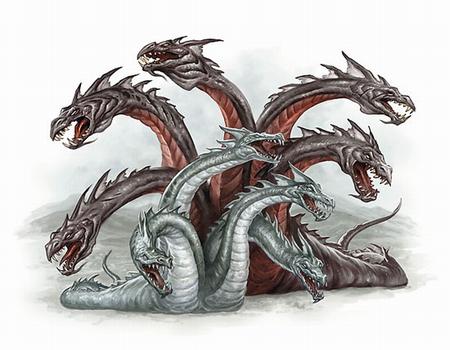 Hydra  Pathfinder  Castles  amp  Crusades  Monster Manual Greek Mythology Hydra