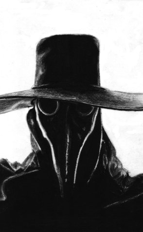 A Plague Doctor of the Scarlet Veil