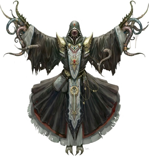 A corrupted Avarian spellcaster