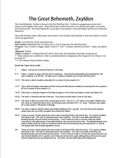 The Great Behemoth, Zxyldon- page 1