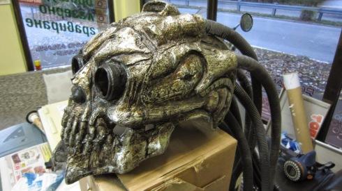 Helmet of a Skeletal Gun Runner, loyal to the Black Queen