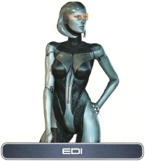 Edi from the Mass Effect series is a perfect example of how the lines are blurred between sophonts