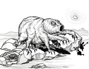 The terrifying monstrosity, the Water Bear
