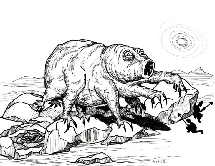 The terrifying monstrosity, the Water Bear