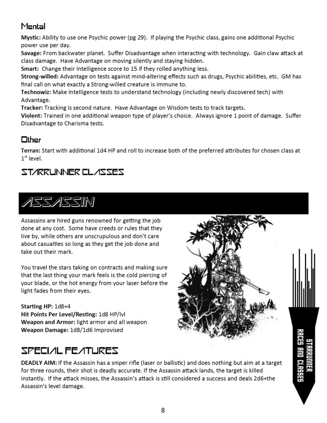 Starrunner for Black Hack- Alien Archetypes Page 2