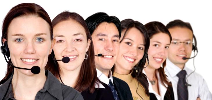 big customer service team
